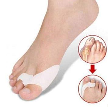 GOOTRADES 6 Par/Pcak Corrector en Gel de Silicona para Pulgar de Pie Juanetes Protector Pies Esparcidor Toe Dedos Separador Color Blanco: Amazon.es: Hogar