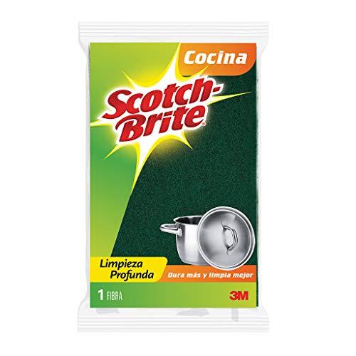 3M Scotch-Brite fibra esponja, 8 fibras en 1, tamaño grande