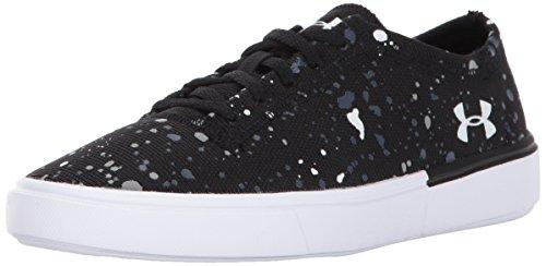 Under Armour Girls' Grade School KickIt2 Splatter Sneaker, Black (001)/White, 7