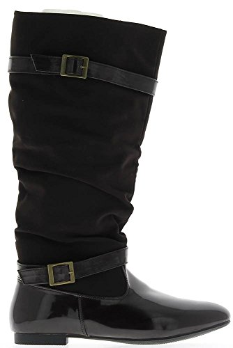 Stivali marroni con tacco squadrato grande 1 cm