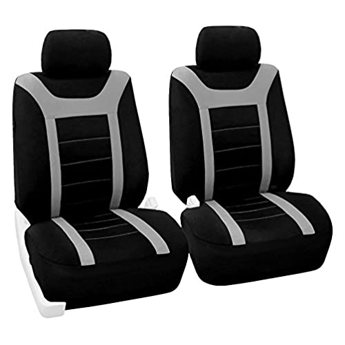 FH Group FB070GRAY102 Gray Front Airbag Ready Sport Bucket Seat Cover Set Of 2