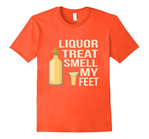 Mens Liquor or Treat Funny Halloween T-Shirt Adult Party Costume XL (Funny Homemade Halloween Costumes Ideas For Adults)