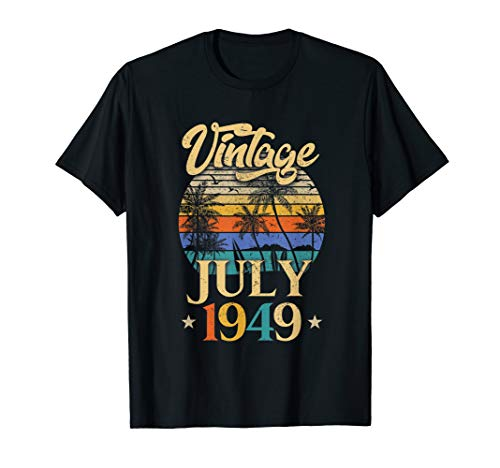 Retro Classic Vintage July 1949 70th Birthday Gift T-Shirt -