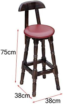 1809 ZEQUAN Tabouret De Bar Comptoir Chaise Cuisine Petit-déjeuner Chaise en Bois Massif Chaise Haute Décoration Décoration Chaise