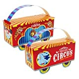 Three-Ring Circus Empty Favor Boxes (4) Party Supplies