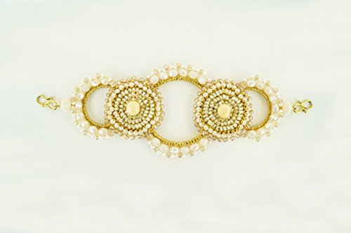 o Slip No Tangle Beaded Headband, Stretch Brand, Women Hair Jewelry, One Size Fits All - Cream ()