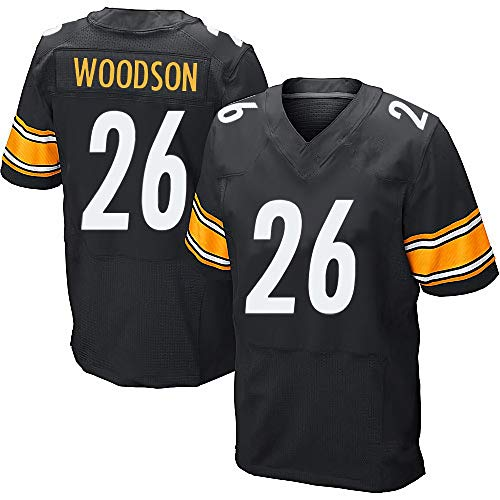 VF Custom Football Jersey Pittsburgh Steelers Team Jersey Black Football Shirt Embroidered Team Name and Your Numbers