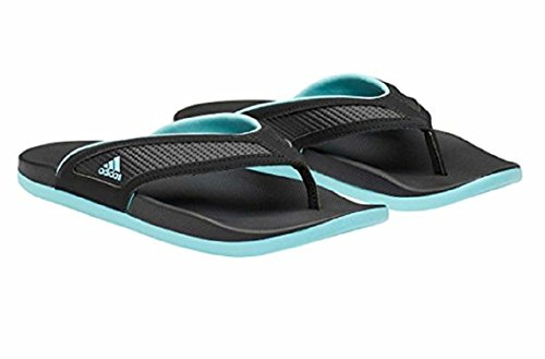 - Adidas Womens Adilette Comfort Summer Flip Flop Sandals (Black/Mint, 10)