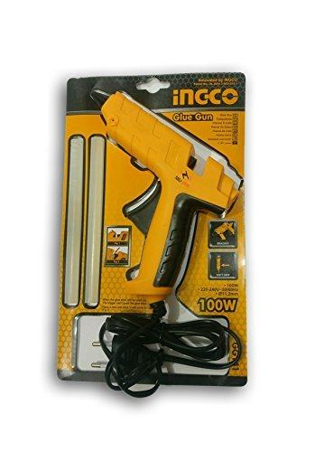 Tools Centre Industrial Quality 100w Glue Gun Combo with Free 2pcs Glue Sticks & Safety Goggles & Safety Gloves