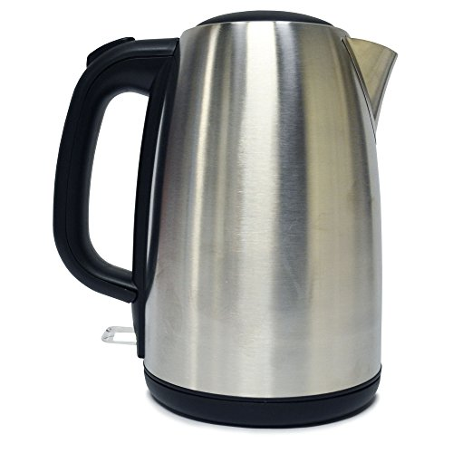 Igenix IG7731 Cordless Electric Jug Kettle, Easy Open Lid and Removable, Washable Filter for Easy Cleaning, 2200 W, Stainless Steel