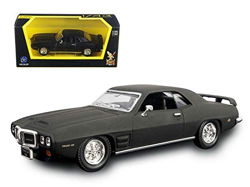 Road Signature 94238 1969 Pontiac Firebird Trans Am Matt Black 1/43 Diecast Model Car