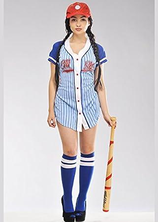 Magic Box Traje de Chica Mujeres béisbol Jugador Small (UK 8-10)   Amazon.es  Juguetes y juegos b2bfc7798b8