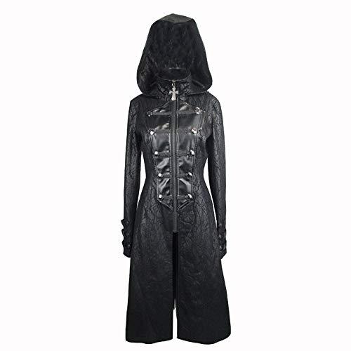 De En Zippé Veste Noir Noire Costume Femme vent Mode Cuir Wlm Cosplay Pour Coupe ZFnHnf