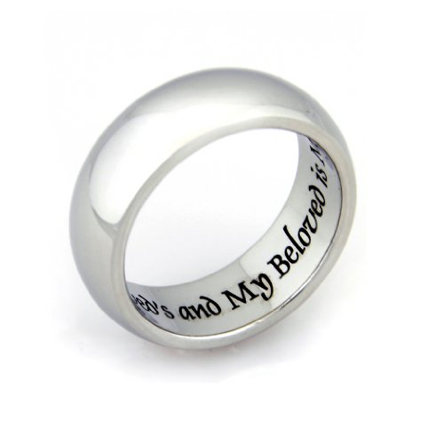 Poesy Rings Promise - I Am My Beloved And My Beloved Is Mine Ring - Promise Ring - Commitment Ring - Wedding Band, 7