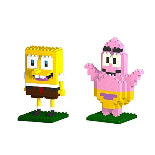 Gooband® LOZ Patrick Star/SpongeBob SquarePants Set Pack of 2 Diamond Nanoblock Educational Toy -