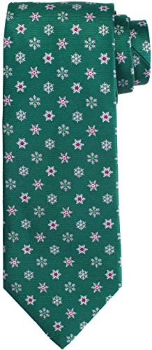 - KissTies Green Tie Snowflakes Necktie For Men + Gift Box