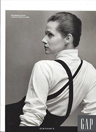 1989 **PRINT AD** with Lorraine Bracco For Gap Turtleneck - Gap Turtleneck