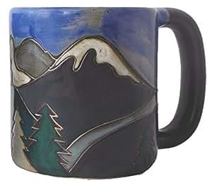 Amazon Com Mara Stoneware Mug Snowy Mountains 16 Oz