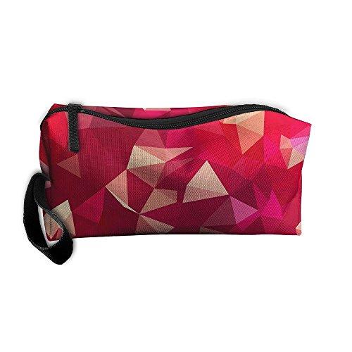 Jessent Coin Pouch Magenta Geometry Pen Holder Clutch Wristlet Wallets Purse Portable Storage Case Cosmetic Bags Zipper]()