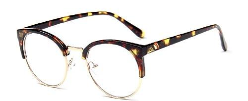 Embryform Vintage occhiali cornice rotonda telaio metallico met¨¤ coreano versione del trend di semplice selvaggia cornice dello specchio pianura