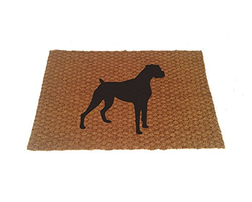 Boxer Door Mat - Boxer Silhouette Doormat (Indoor or Outdoor Use)