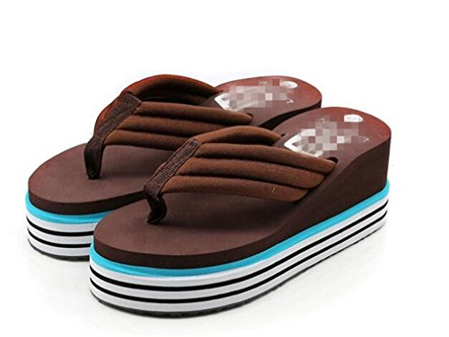Bottom Styles Sandals Slope Flip TPR Boowhol Thick Personality Various amp; Anti Soft Slippers Heel skid Fashion Ladies Flops Brown Colours 1xaBz