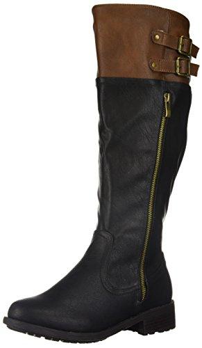 altas Wide para Black Par Knee mujer Camel DREAM Bradenn de botas Calf FOqxtn4g