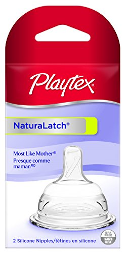 Playtex Natural Latch Nipple, Slow Flow, 2 Count