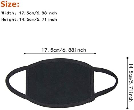 3 Pack Unisex Mouth Mask Adjustable Anti Dust Face Mask,Black Cotton Mouth Mask Muffle Mask for Cycling Camping Travel,100% Cotton Washable Reusable Cloth Masks