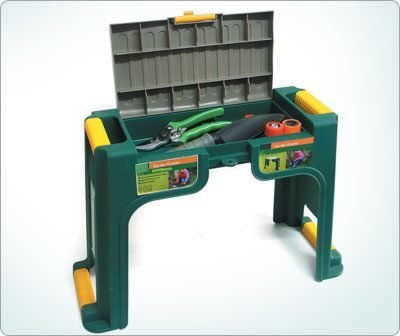 Multi use garden kneeler - 2 in 1 Stool and Kneeler - Padded kneeler with handles - Storage compartment for gardening tools - Ideal gift for Christmas or Birthdays Best4Garden