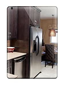 New Arrival Case Cover With RznDKBy27238MGTJL Design For Ipad Air- Kitchen With Garphic Pattern Backsplash And Dark Stained Cabinets