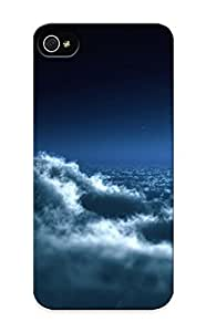 Case For Iphone 5/5S Cover Skin : Premium High Quality Moon Over Clouds Case