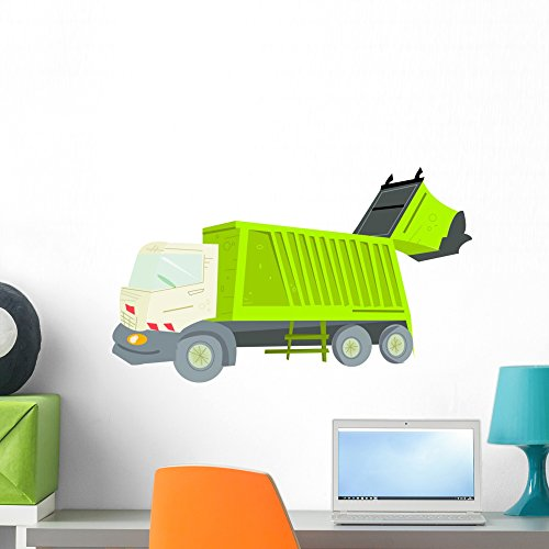 Wallmonkeys Garbage Truck Wall Mural Peel and Stick Graphic