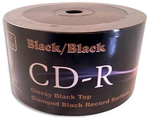 Black/Black 52X 80-Min Double-Sided Colored CD-R 100-Pak (2 x 50-Pak) by GenesysDTP