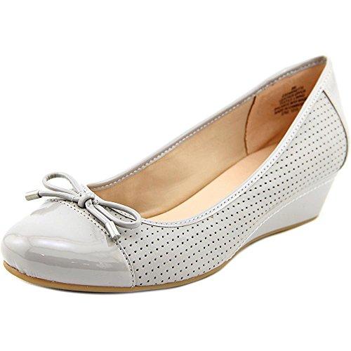 30%OFF Easy Spirit Dawnette Women Open Toe Leather Gray Wedge Heel ... eb14bb567a6