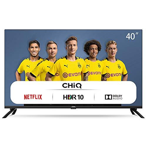 🥇 CHiQ Televisor Smart TV LED 40 Pulgadas FHD