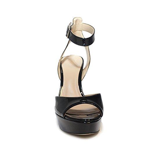Guess Articolo Tacco Primavera FLCT21 con Nuova Colore Collezione Estate Modello Donna Black Lucido Alto Sandalo Nero 2018 PAF03 0Rrzqn0