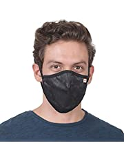 6 Layered Mask, Reusable & washable mask, For Adult, Men & Women, Elastic Earloop & Triple Filtration System, Comfortable & Easy to Wear, Unique design for Summer comfort (6 Layer IB Brown Mask)
