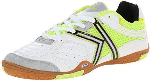 a89142e65b6 Kelme Michelin Star 360 Indoor Soccer Shoes 11.5 D(M) US White Blanco Green  (B00BE4R69Y)