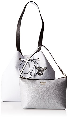GUESS BOBBI INSIDE OUT DRAWSTRING HWPT6422290 Nero (White Black)