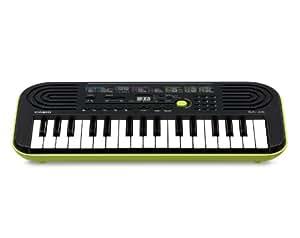 Casio SA-46H5 SA-46 - Teclado electrónico (46 teclas mini, plástico, 2 altavoces integrados), color negro y verde