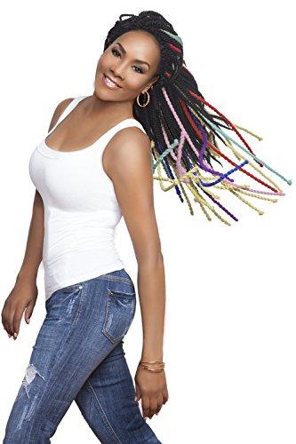 Vivica A. Fox Hair Collection Soft &Weightless Virginia YARN Twists Crotchet Braid Hair (#PURPLE)