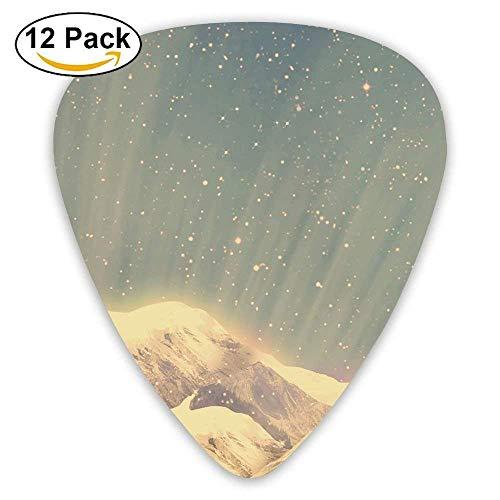 (12-Pack Custom Guitar Picks Chinese Ink Painting Standard Bass Guitarist Music)