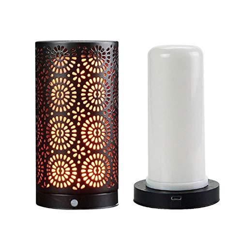 Luz de efecto de llama LED, lámpara de mesa recargable USB, luz ...