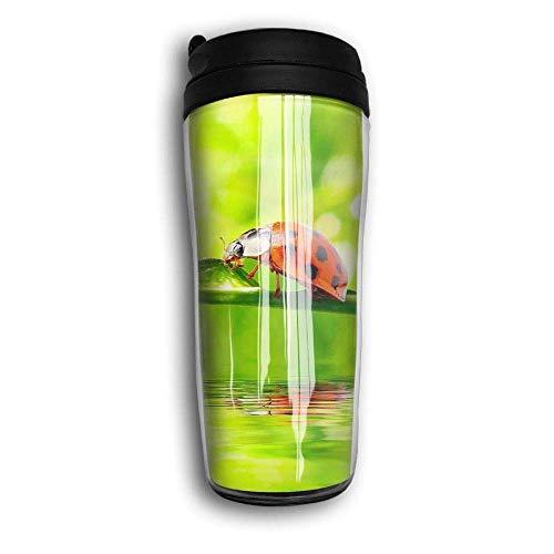 AUUOCC Ladybug Scenery Travel Mug Coffee Thermos Stainless Steel Flask Water Bottle
