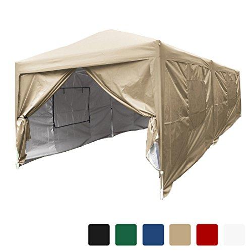 10 X 20 Pop (Quictent privacy 10x20 Feet Mesh Curtain EZ Pop Up Party Tent Canopy Gazebo 100% Waterproof-6 Colors (Beige))