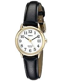 Timex Women's T2H3419J Easy Reader Black Leather Strap Watch