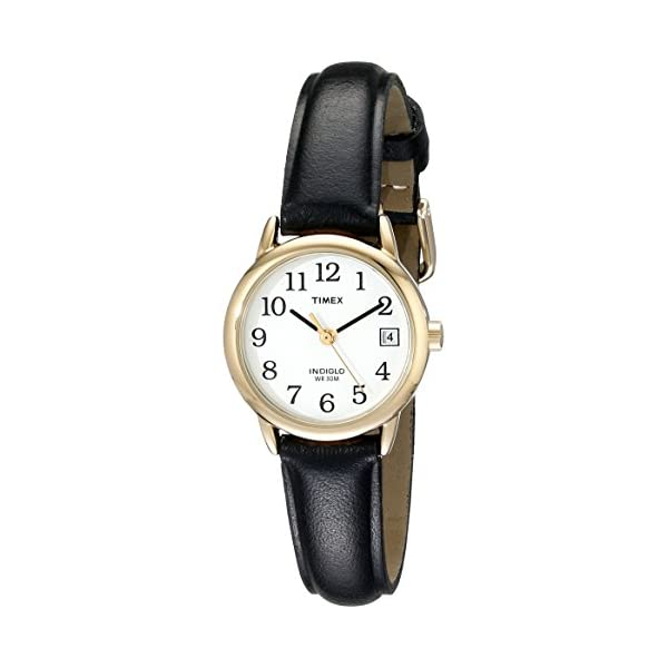 Timex Women's Indiglo Easy Reader Quartz Analog Leather Strap Watch with Date...