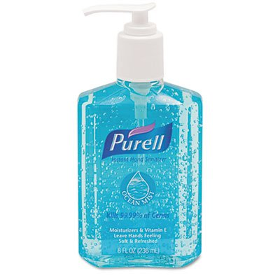 Ocean Mist Instant Hand Sanitizer, 8oz Pump Bottle, Blue, Sold as 1 Each by ()