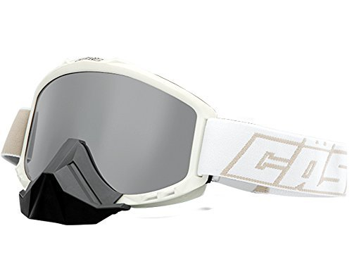Castle Force Snowmobile Goggles-Matte White by Castle X